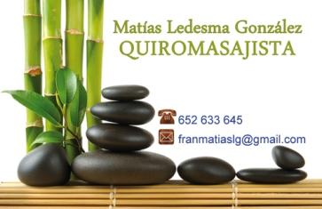 Tarjeta Quiromasajista