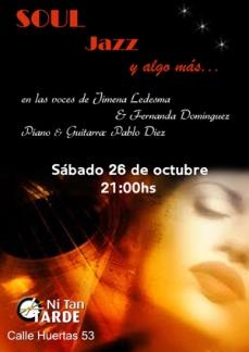 Poster Concierto de Soul Jazz