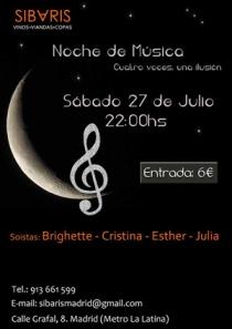 Poster Concierto en Madrid