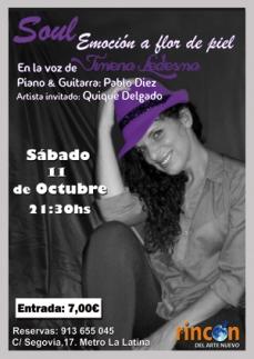Poster Concierto Jimena