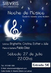 Poster Concierto Noche de Musica