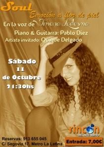 Poster Concierto Soul en Madrid